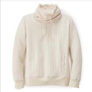 PrAna Herringbone Quilted Pullover Sweatshirt